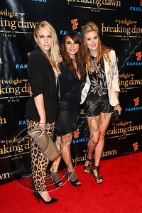 "SAN DIEGO, CA - JULY 11:  Actresses Casey LaBow, Mia Maestro and Maggie Grace arrive at ""The Twilight Saga: Breaking Dawn - Part 2"" VIP Comic-Con celebration at Hard Rock Hotel San Diego on July 11, 2012 in San Diego, California.  (Photo by Chelsea Lauren/WireImage)"