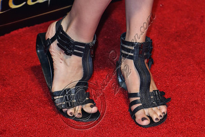 "SAN DIEGO, CA - JULY 11:  Actress Maggie Grace (shoe detail) arrives at ""The Twilight Saga: Breaking Dawn - Part 2"" VIP Comic-Con celebration at Hard Rock Hotel San Diego on July 11, 2012 in San Diego, California.  (Photo by Chelsea Lauren/WireImage)"