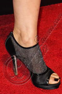 "SAN DIEGO, CA - JULY 11:  Actress Mia Maestro (shoe detail) arrives at ""The Twilight Saga: Breaking Dawn - Part 2"" VIP Comic-Con celebration at Hard Rock Hotel San Diego on July 11, 2012 in San Diego, California.  (Photo by Chelsea Lauren/WireImage)"
