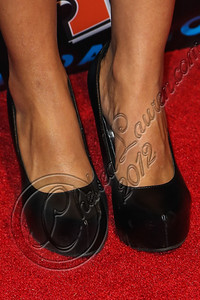 "SAN DIEGO, CA - JULY 11:  Actress Tracey Heggins (shoe detail) arrives at ""The Twilight Saga: Breaking Dawn - Part 2"" VIP Comic-Con celebration at Hard Rock Hotel San Diego on July 11, 2012 in San Diego, California.  (Photo by Chelsea Lauren/WireImage)"