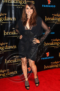 "SAN DIEGO, CA - JULY 11:  Actress Mia Maestro arrives at ""The Twilight Saga: Breaking Dawn - Part 2"" VIP Comic-Con celebration at Hard Rock Hotel San Diego on July 11, 2012 in San Diego, California.  (Photo by Chelsea Lauren/WireImage)"