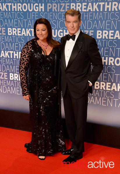 Pierce Brosnan with wife Keely Shaye Smith