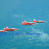 SION, SWITZERLAND - SEPTEMBER 17:  Patrouille suisse in close formation at the Breitling Air show.  September 17, 2011 in Sion, Switzerland