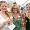 Molly Bodurtha and Kay Alverson-Hillman of Fitchburg with Allie Bird of Lunenburg wher having fun at the annual Nashua River Brewers Festival on Saturday at Riverfront Park in Fitchburg. SENTINEIL & ENTERPRISE/JOHN LOVE