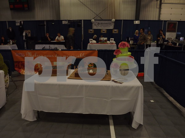 Booths set up around to advertise for the show. (Hyvee)