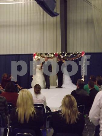 Beautiful tux and dress show.