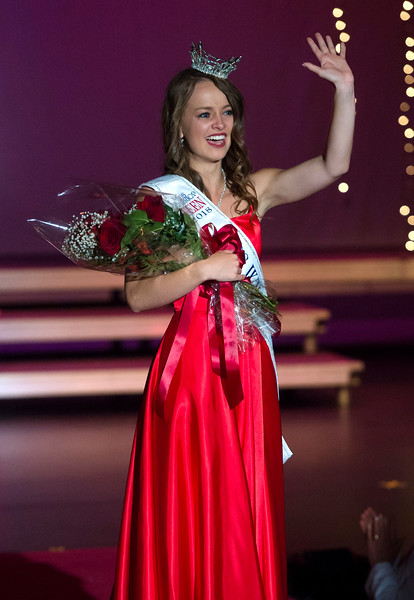Justin Sheely | The Sheridan Press<br /> Sheridan's Taylor Greig wins the Miss Wyoming's Outstanding Teen 2018 title at the WYO Performing Arts and Education Center Saturday, June 23, 2018.
