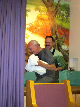 Bro Gerald gets Baptized at Walnut Grove Baptist Church 2/22/12