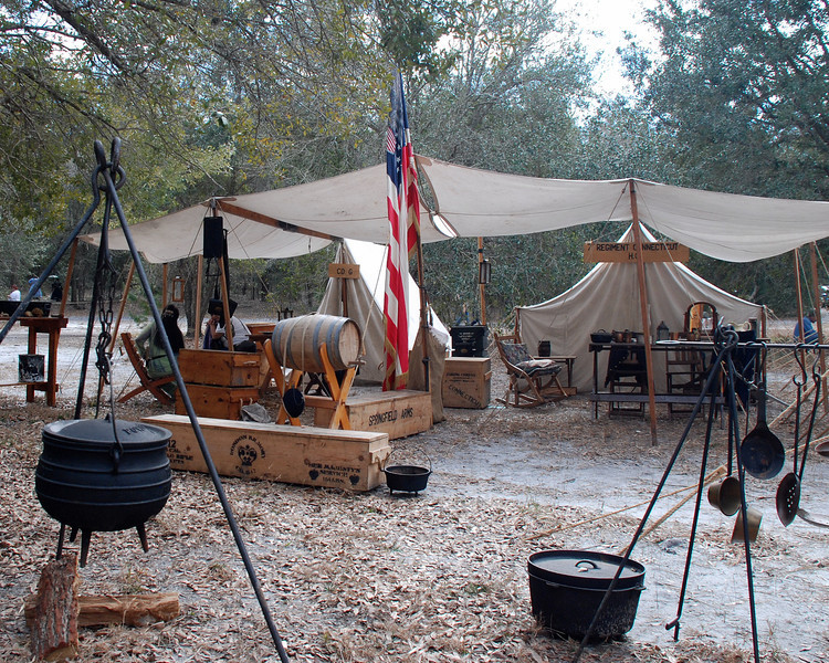 A typical camp of the times.