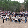 Confederate and Union forces march back to their camps to rest - the battle begins again tomorrow.