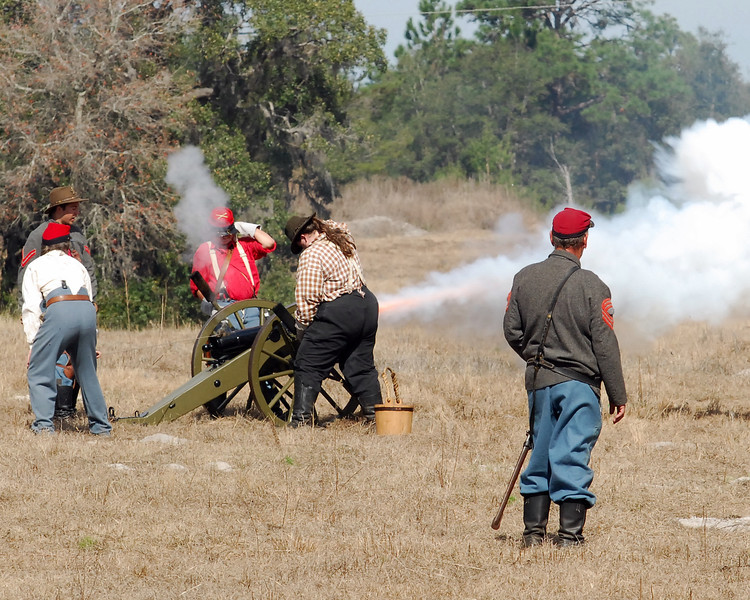 Cannon fire!