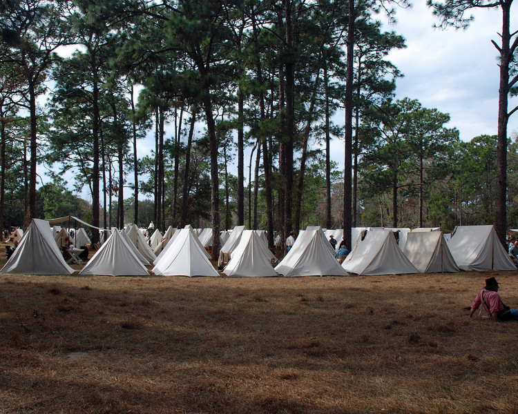 Encampment of the Confederate forces.