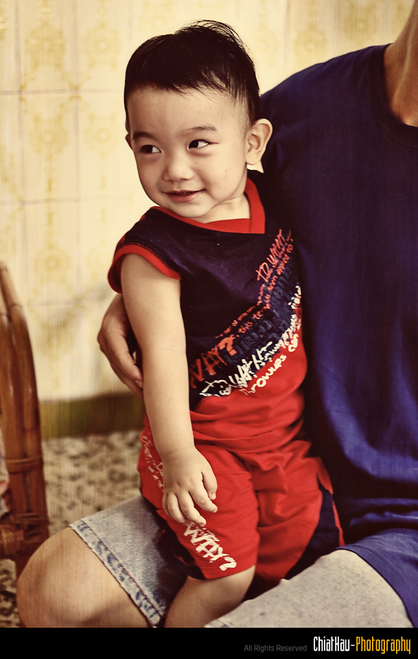 Here we go... Shuan is showing his chicky smile again... muhahah...