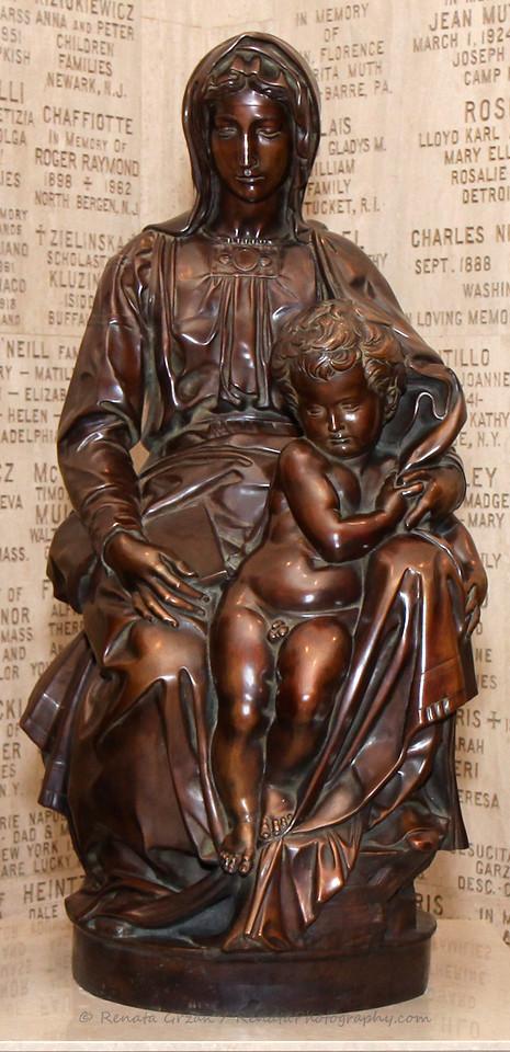 Bruges Madonna by Michelangelo - Bronze Replica
