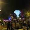 20191102 (2027) 'Bull Moon Rising' installation, Durham NC - crowd around CCB Plaza (video clip by Dilip Barman)