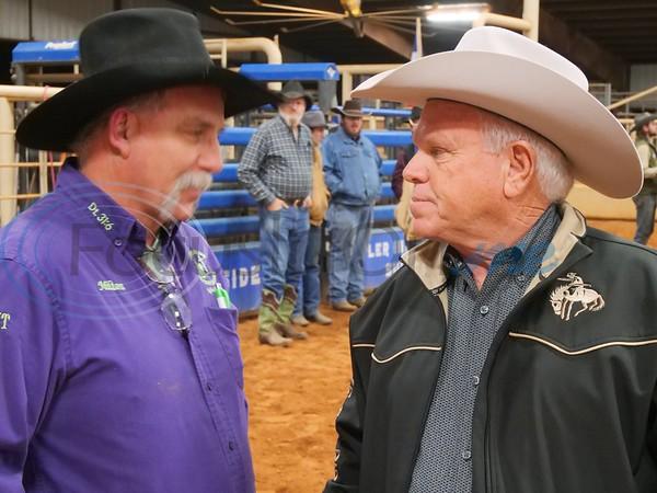 Milton Allen with Announcer, Cliff Gillan