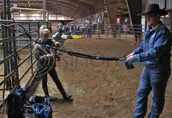 Bull Rider getting ready