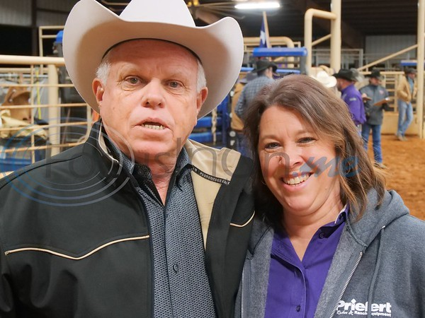 Announcer, Cliff Gillan with Cathy Bivens