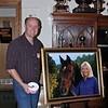 Nigel at his wife, Lori's exibit