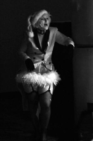 "Bada Bing Babes burlesque group perform ""Last Fridays"" at TSI in Jacksonville, Florida."