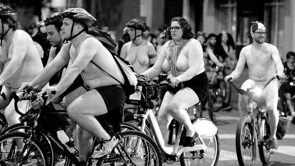 World Naked Bike Ride, Chicago, 2018. John Shippee Photography