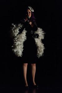 Miss Violet, Emcee Extraordinaire Texas Burlesque Royalty 130104 0008