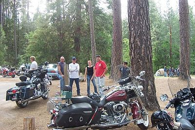 JR & Members at Bass Lake Campsite