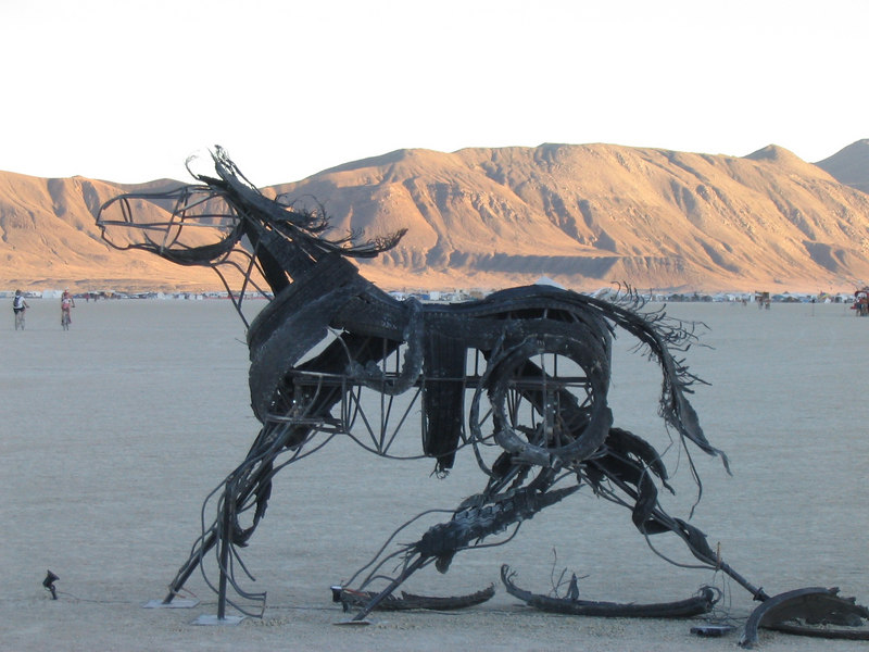 <b>IMG_2758</b><br>One of my favorite pieces: a stand of three horses made of rebar and old tires.