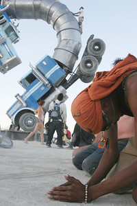 Meditation out on the Playa.
