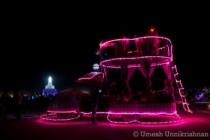The pink bed art car