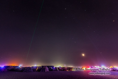 Moonset over Burning Man