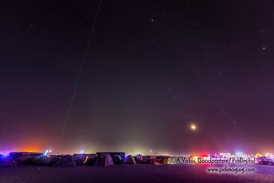 Moonset over Burning Man