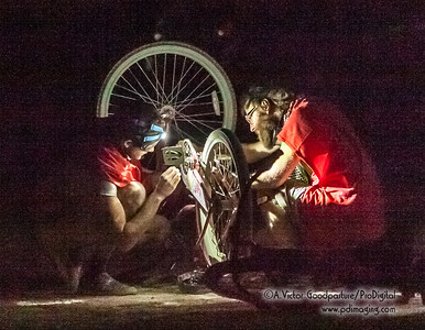 Throughout Burning Man, people are ready and willing to help out their fellow Burners.