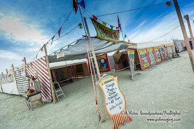 A free magic show every night as well as exotic freak shows during the day. The talent on the playa seems infinite.