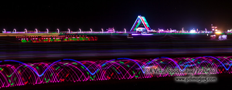 The rings are part of Sonic Runway, one of the coolest art pieces in Black Rock City.