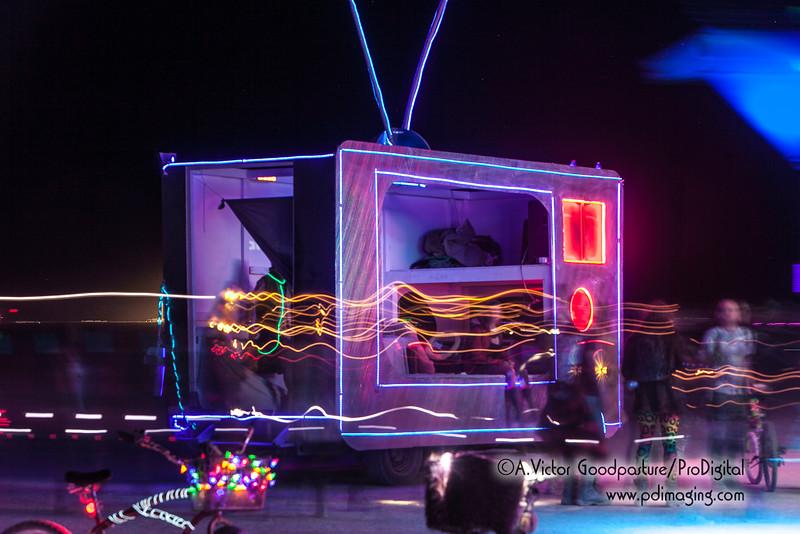 TV art car..