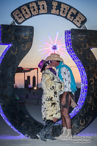 I took Stephanie and Scotty on a sunrise engagement photo shoot around the playa. We got some really nice photos.