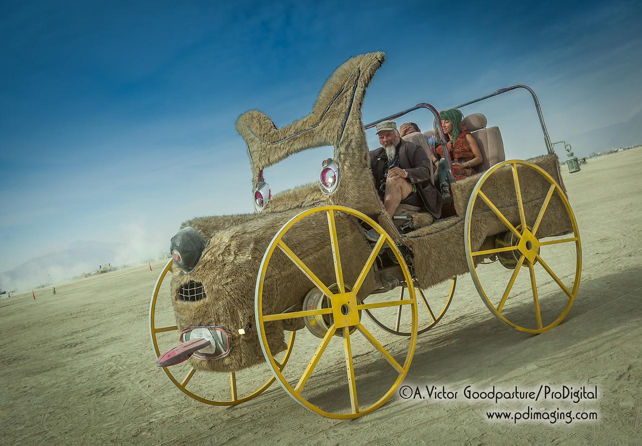 A dog-gone fun art car.