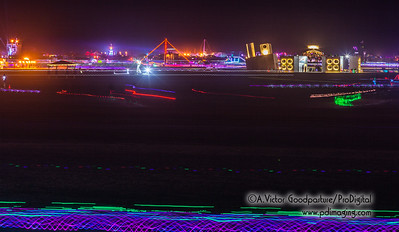 Night activity on the playa.