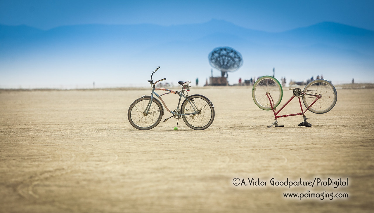 More abandoned bicycles on the playa.
