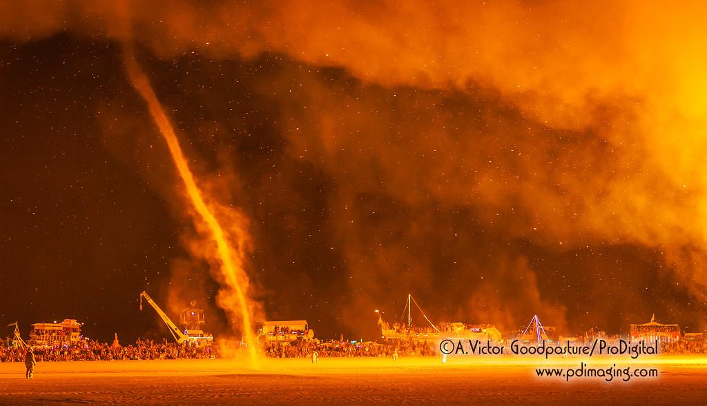 Fire tornados.