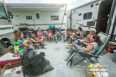 The Temple of Anointment camp rests before heading out to the playa for the The Man's burn.