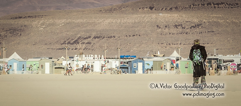 One of the smallest transportation vehicles on the playa—a one-wheeled electric cycle.