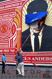 "June 23, 2016 SE ""Unveiling"" of the James Anderson mural by Shepard Fairey"
