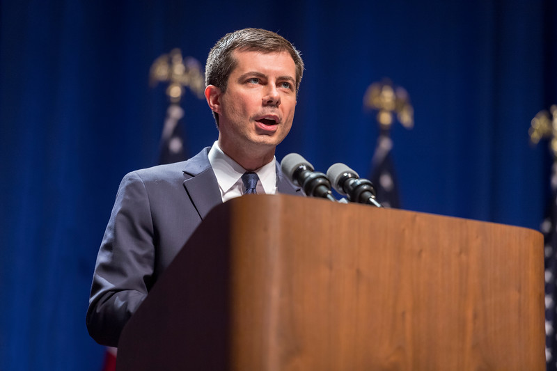 Pete Buttigieg holds a campaign event on Tuesday, June 11, 2019 in the IU Auditorium.