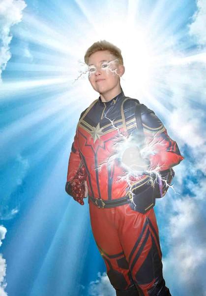 Captain Marvel blue sky