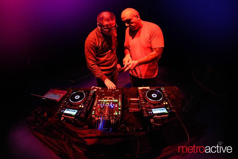DJ Basura with sound engineer Kyle Gilmore (Ritz)