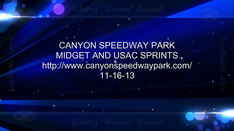 CANYON MIDGET MAIN SAT. 11-16-13