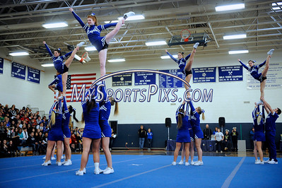 2/2/2013 Mike Orazzi | Staff Southington High School cheerleaders during the Sixth Annual CCC Cheerleading Competition held at Bristol Eastern High School on Saturday afternoon.