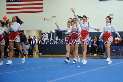 2/2/2013 Mike Orazzi | Staff Conard High School cheerleaders during the Sixth Annual CCC Cheerleading Competition held at Bristol Eastern High School on Saturday afternoon.